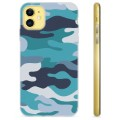 iPhone 11 TPU Case - Blue Camouflage