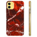 iPhone 11 TPU Case - Red Marble