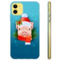 iPhone 11 TPU Case - Winter Piggy
