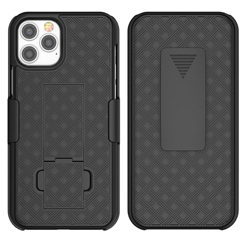 iPhone 12 mini Hybrid Case with Belt Clip - Black