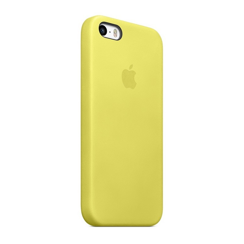iphone 5 5s se apple mf043zm a leather case yellow. Black Bedroom Furniture Sets. Home Design Ideas