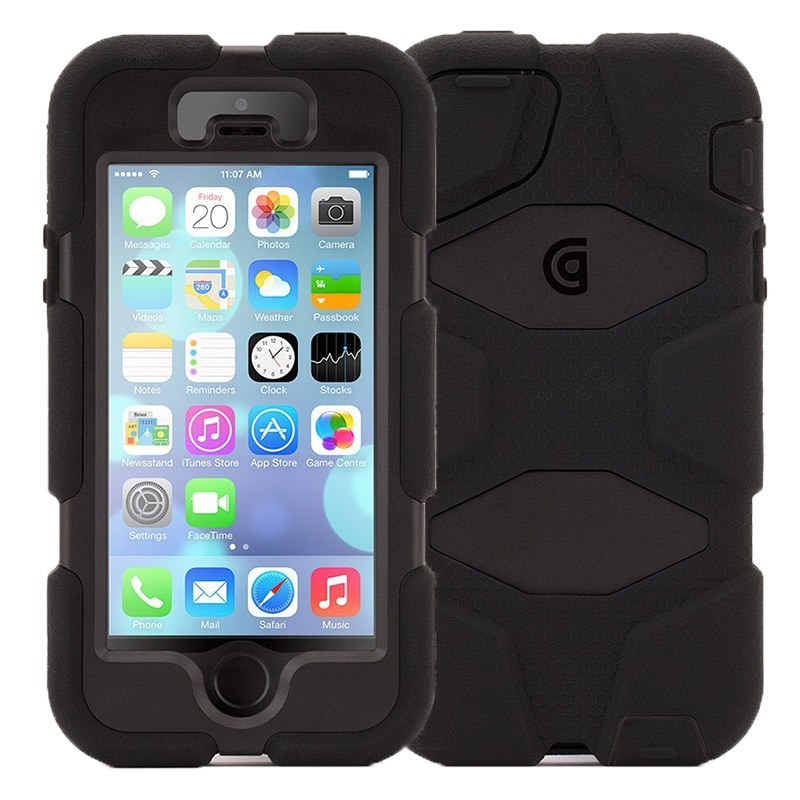 the griffin survivor iphone se case black this session, will