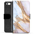 iPhone 5/5S/SE Premium Wallet Case - Elegant Marble