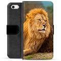iPhone 5/5S/SE Premium Wallet Case - Lion