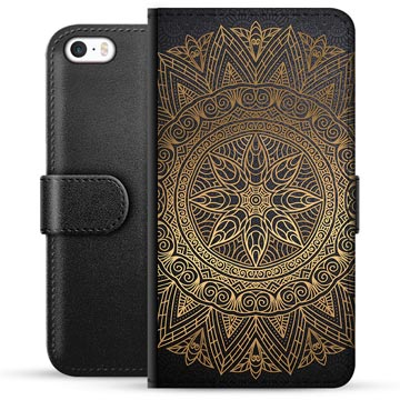 iPhone 5/5S/SE Premium Wallet Case - Mandala