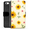 iPhone 5/5S/SE Premium Wallet Case - Sunflower