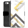 iPhone 5/5S/SE Premium Wallet Case - Abstract Marble