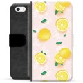 iPhone 5/5S/SE Premium Wallet Case - Lemon Pattern