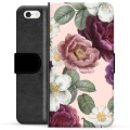 iPhone 5/5S/SE Premium Wallet Case - Romantic Flowers