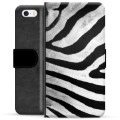 iPhone 5/5S/SE Premium Wallet Case - Zebra