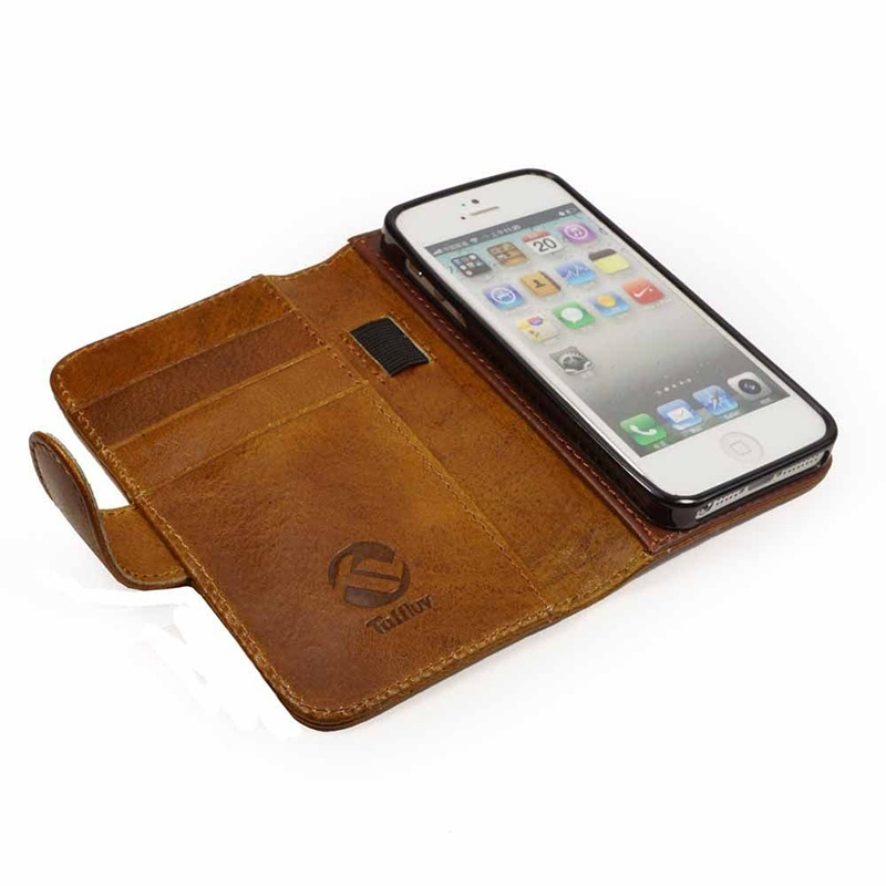 iphone 5s leather wallet case iphone 5 5s se tuff magic grip leather wallet 17481