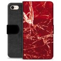 iPhone 7/8/SE (2020) Premium Wallet Case - Red Marble