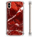 iPhone XS Max Hybrid Case - Red Marble
