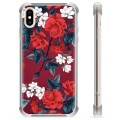 iPhone XS Max Hybrid Case - Vintage Flowers
