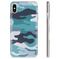 iPhone XS Max TPU Case - Blue Camouflage