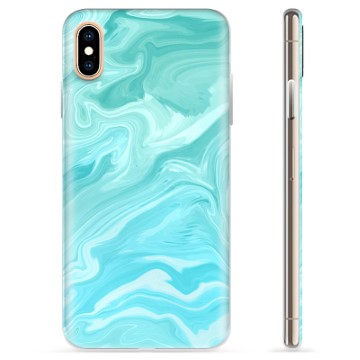 iPhone XS Max TPU Case - Blue Marble