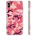 iPhone XS Max TPU Case - Pink Camouflage