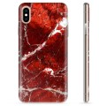 iPhone XS Max TPU Case - Red Marble