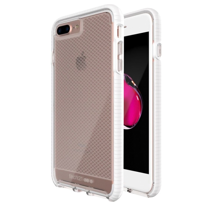 Iphone 7 Plus Iphone 8 Plus Tech21 Evo Check Case White