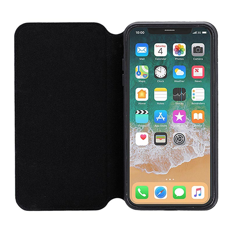 3Sixt SlimFolio iPhone XS Max Flip Case - Black