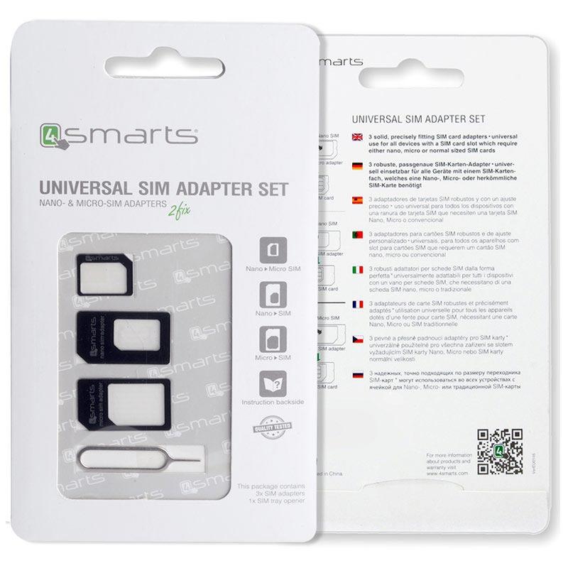 4smarts 3 In 1 Sim Card Adapter Set