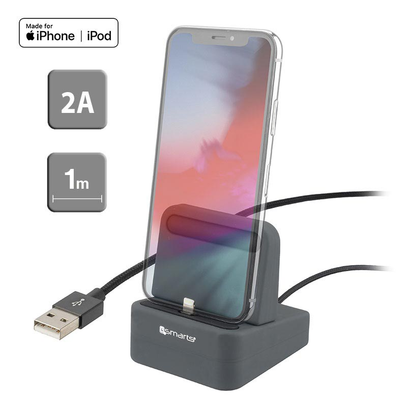 4smarts uDock 2-in-1 Lightning Charging Station - iPhone XS Max/XS/XR