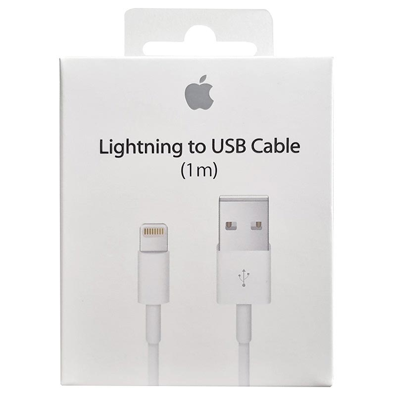Apple Lightning / USB Cable MQUE2ZM/A - iPhone 6S/X/XR/XS max, iPad Pro - White - 1m