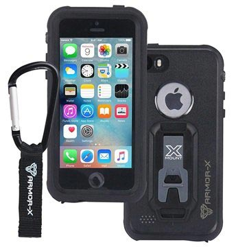 superior quality 7d04d c5c1e iPhone 5/5S/SE Armor-X Ultimate Waterproof Case - Black
