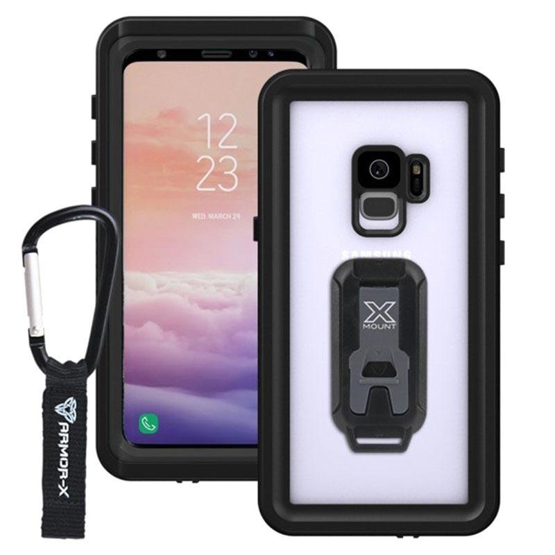 save off f1f0f 6d3ad Samsung Galaxy S9 Armor-X MX-S9-BK Waterproof Case - Black