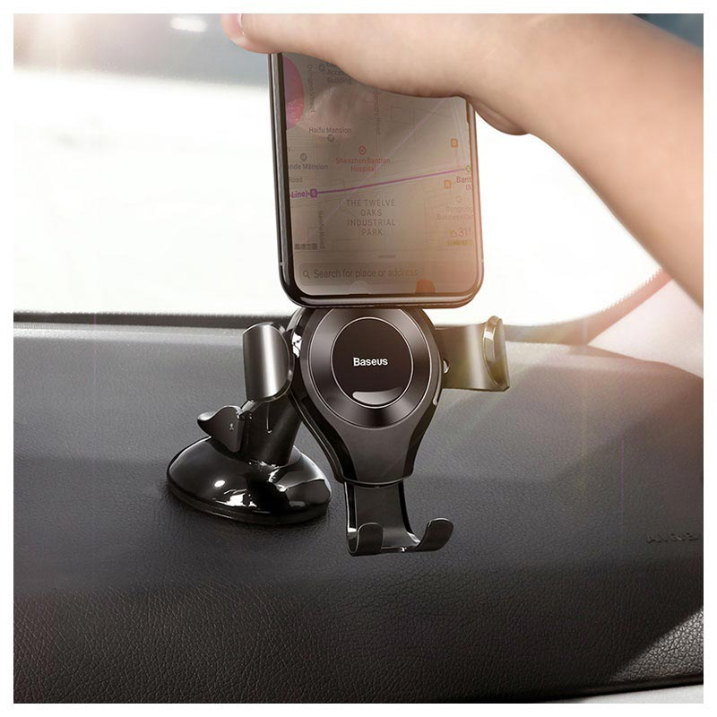 Baseus Osculum Gravity Car Holder with Suction Cup - Black