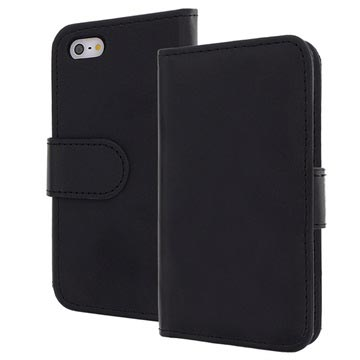 iPhone 5 / 5S / SE Bookstyle Leather Case - Black