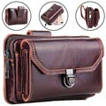 Business Series Universal Holster Leather Case for Smartphones - Brown