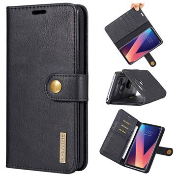 size 40 41761 8439f DG.Ming 2-in-1 LG V30 Detachable Wallet Leather Case - Black