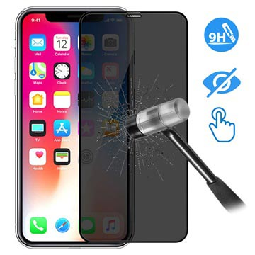 size 40 f5e4c ffedb Devia 3D Full Glass Privacy iPhone XS Max Screen Protector - 9H, 0.26mm -  Black