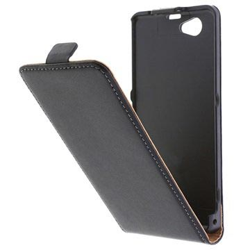 uk availability 07f77 ed486 Sony Xperia Z1 Compact Flip Leather Case - Black