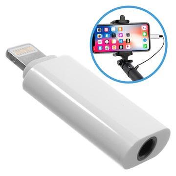 huge selection of 444ec 90294 Lightning / 3.5mm Selfie Stick Adapter - iPhone X/8/8 Plus - White