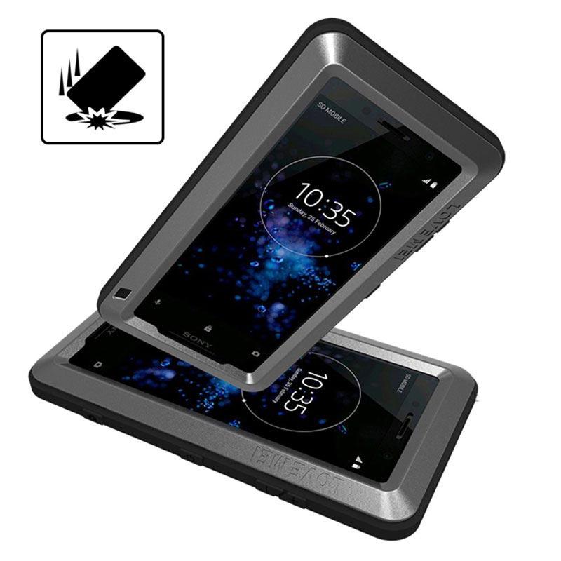 Love Mei Powerful Sony Xperia XZ2 Compact Hybrid Case - Black