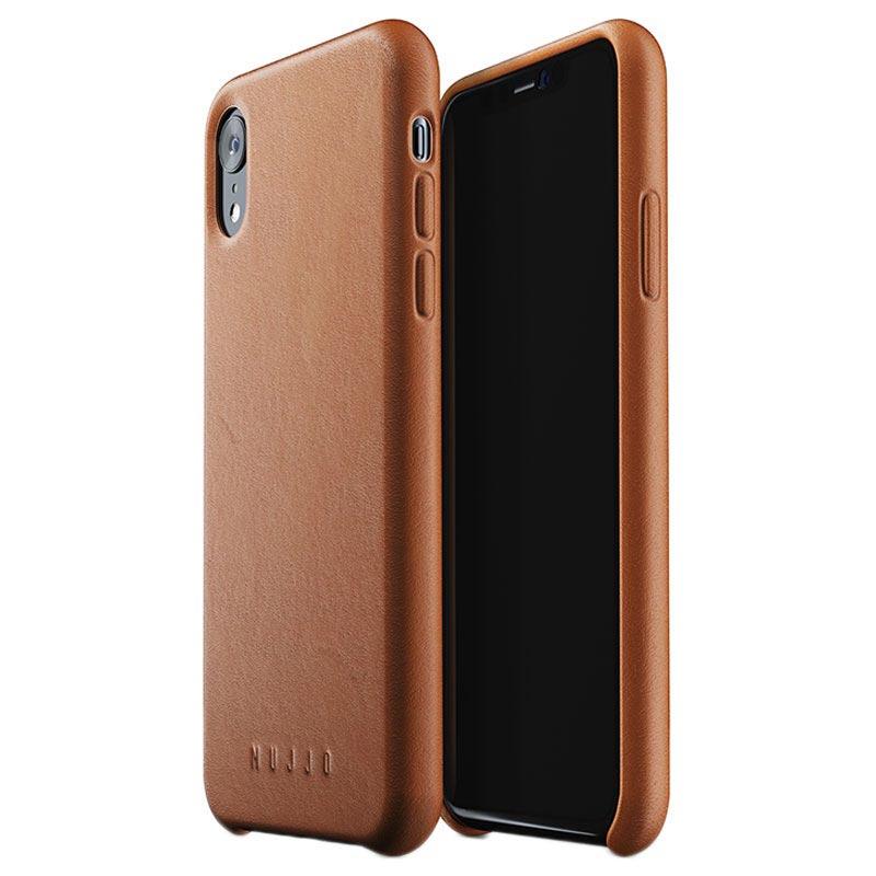 Mujjo Premium Full Leather iPhone XR Case - Tan