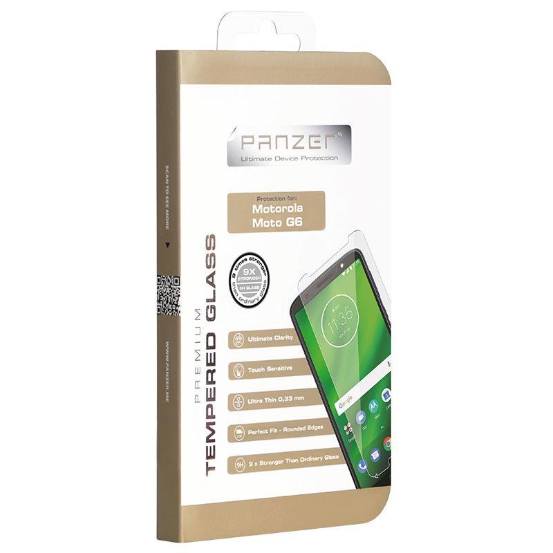 Panzer Premium Motorola Moto G6 Tempered Glass Screen Protector - Clear
