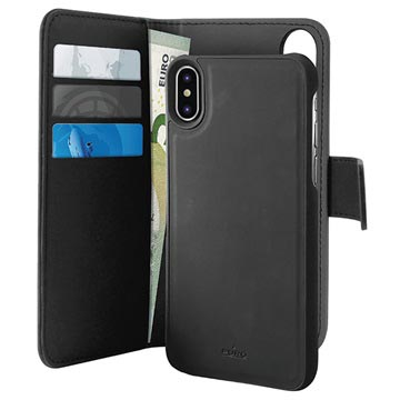 the best attitude bb8b3 0b802 Puro 2-in-1 iPhone XS Max Magnetic Wallet Case - Black