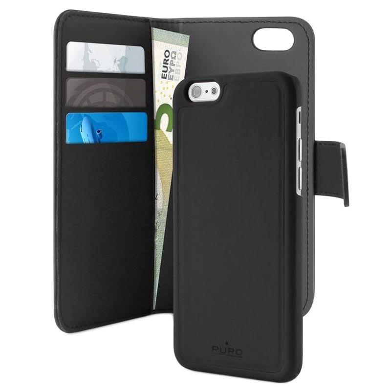 iPhone 7/8/SE (2020) Puro Detachable Wallet Case