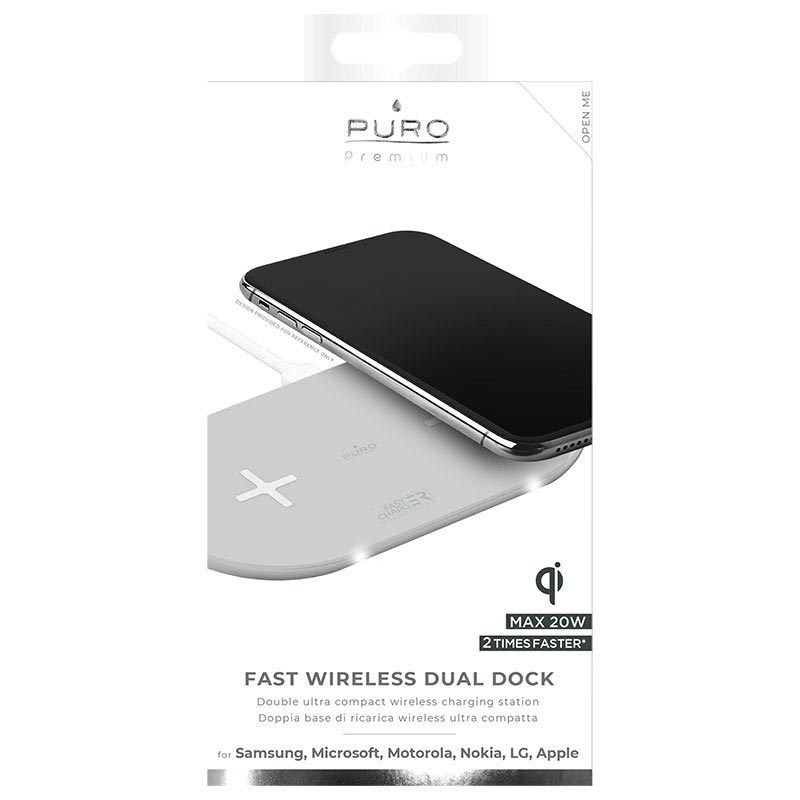 Puro Premium Dual Fast Qi Wireless Charger - 20W