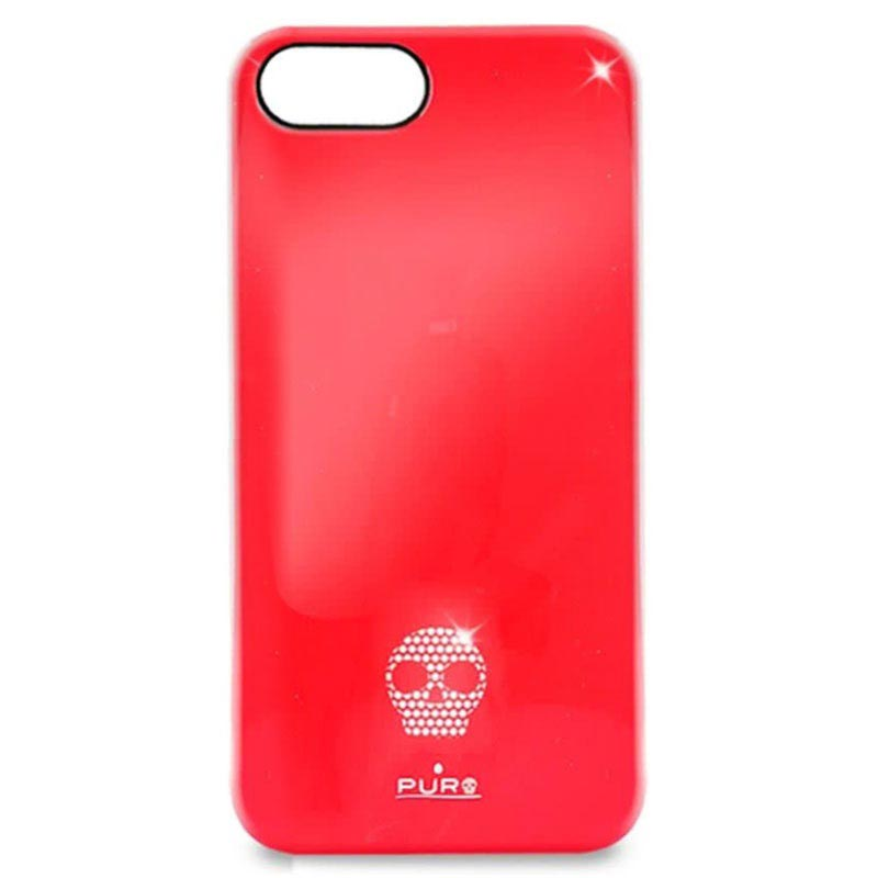 iPhone 5 / 5S / SE Puro Skull Click-On Cover - Red