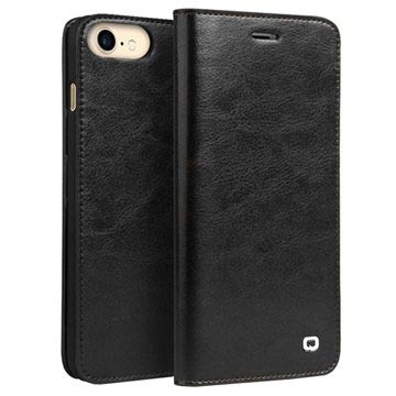 iPhone 7/8/SE (2020) Qialino Classic Wallet Leather Case - Black