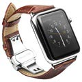 Apple Watch Series SE/6/5/4/3/2/1 Qialino Leather Wristband - 42mm, 44mm - Brown