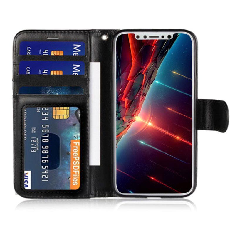 Saii Classic iPhone XS Max Wallet Case - Black