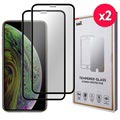 Saii 3D Premium iPhone XS Tempered Glass Screen Protector - 9H, 2 pcs.