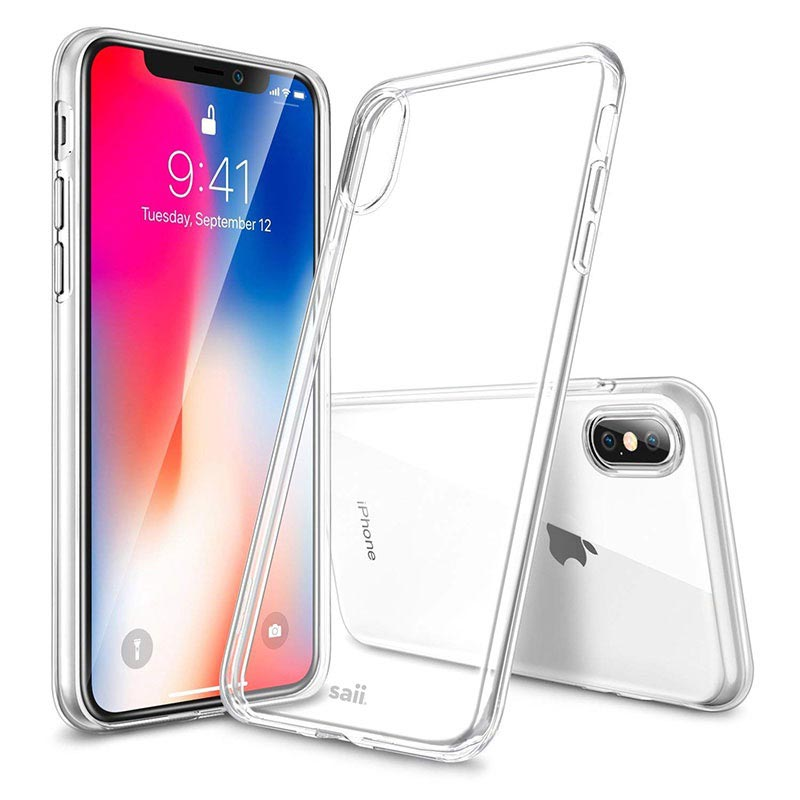 Saii Premium Anti-Slip iPhone XS Max TPU Case - Transparent