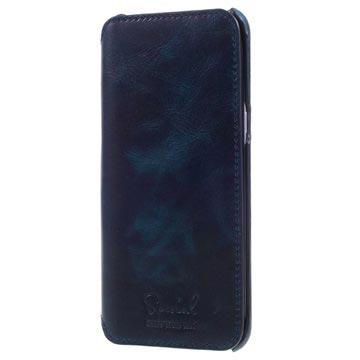 more photos ff141 afa36 Samsung Galaxy S8+ Slim Flip Leather Case - Dark Blue