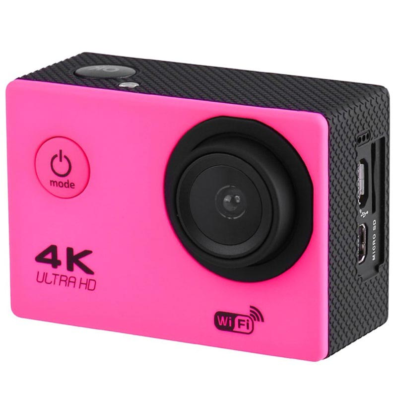 Sports SJ60 Waterproof 4K WiFi Action Camera - Hot Pink
